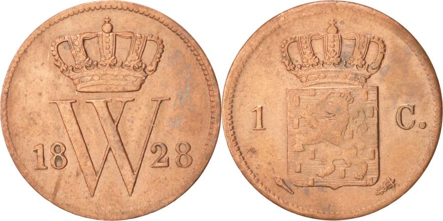 World Coins - NETHERLANDS, Cent, 1828, KM #47, , Copper, 22, 3.83
