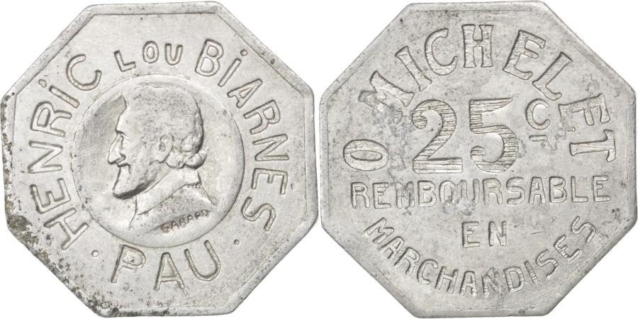 World Coins - France, 25 Centimes, , Aluminium, Elie #50.3, 1.96