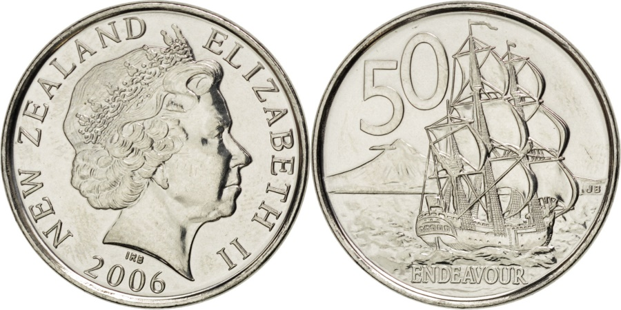 World Coins - NEW ZEALAND, 50 Cents, 2006, KM #119a, , Nickel Plated Steel, 24.75, 4.89