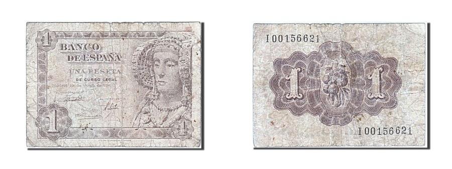 World Coins - Spain, 1 Peseta, 1948, KM #135a, 1948-06-19, VG(8-10), I 00156621