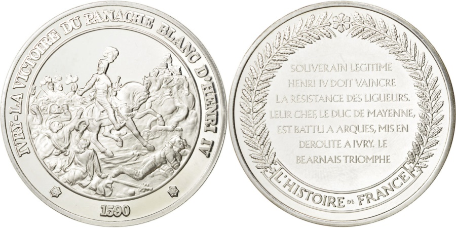 World Coins - FRANCE, History, French Fifth Republic, Medal, , Silver, 44, 37.10