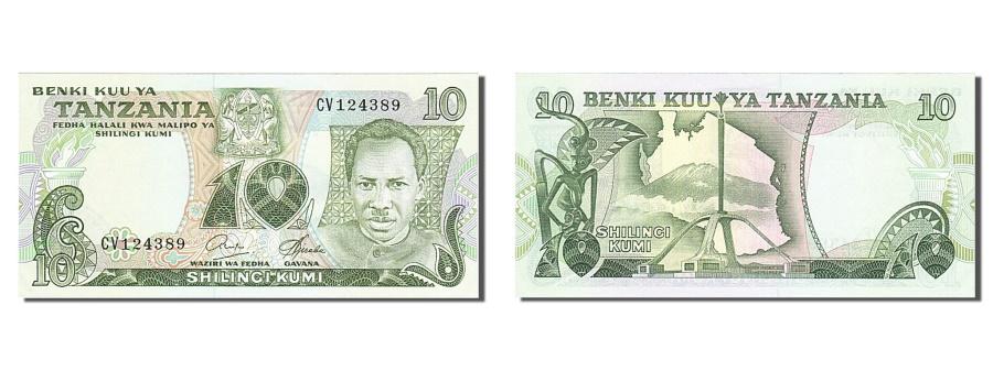World Coins - Tanzania, 10 Shilingi, 1978, KM #6b, UNC(60-62), CV 124389