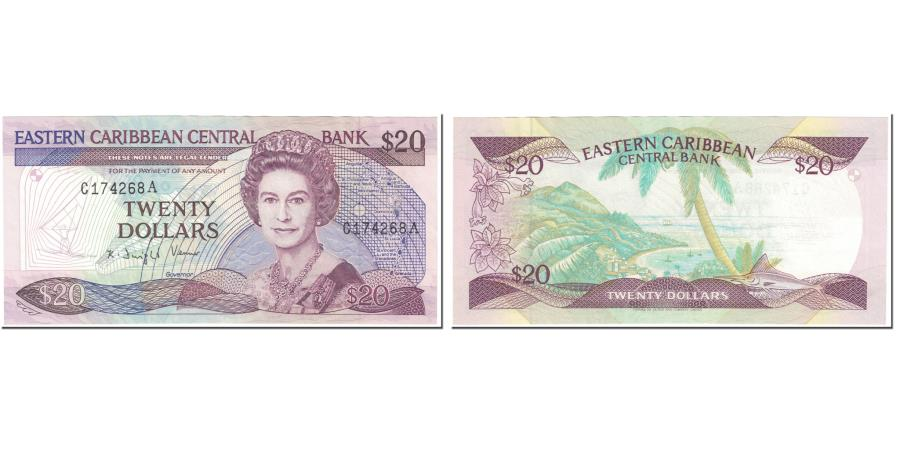 World Coins - Banknote, East Caribbean States, 20 Dollars, 1988-93, Undated (1988-93)