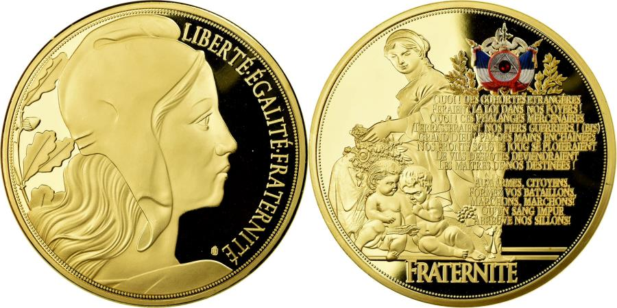 World Coins - France, Medal, Marianne, Liberté Egalité Fraternité, 2015, , Copper