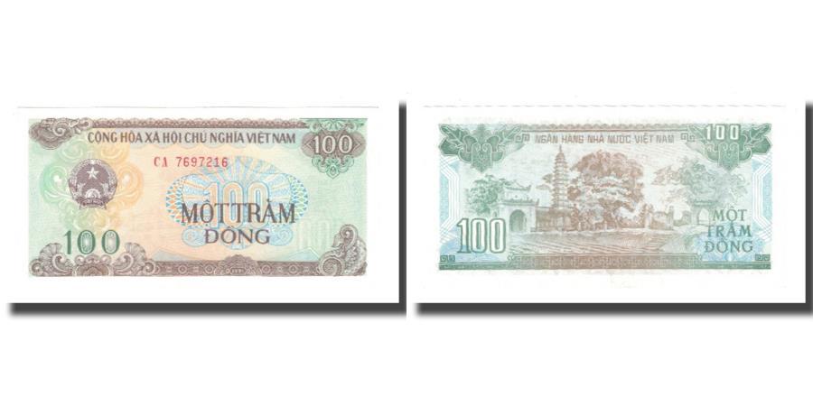 World Coins - Banknote, Vietnam, 100 Dng, 1991, KM:105a, AU(55-58)