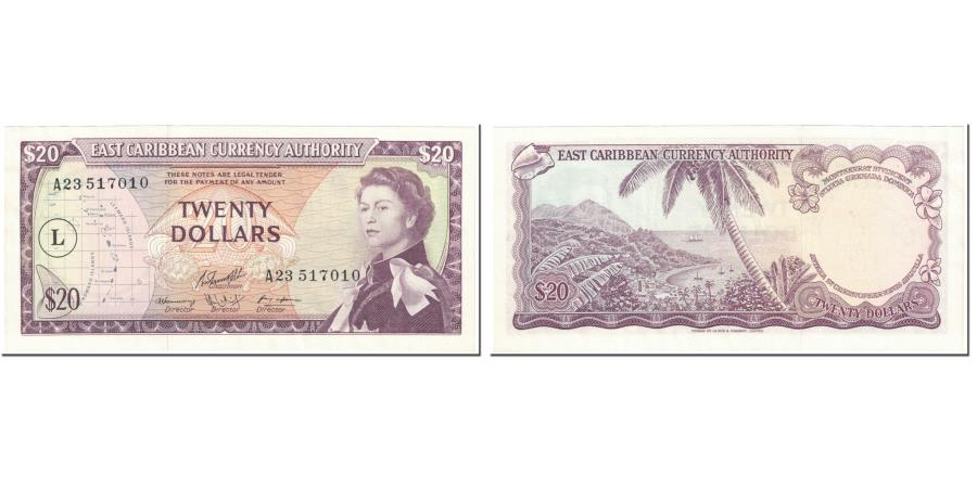 World Coins - Banknote, East Caribbean States, 20 Dollars, 1965, Undated (1965), KM:15l
