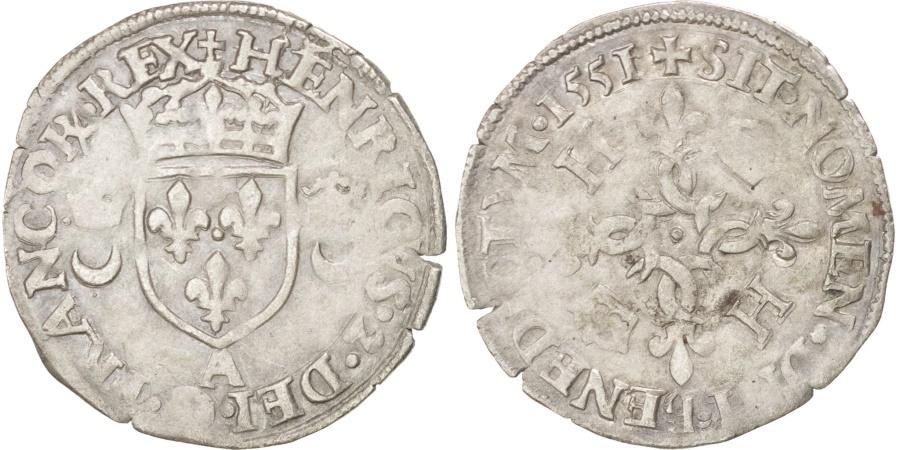 World Coins - Henry II (1547-1559), Douzain aux croissants, 1551, Paris, Duplessy 997