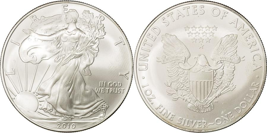 US Coins - United States, Dollar, 2010, U.S. Mint, MS(65-70), Silver, KM:273
