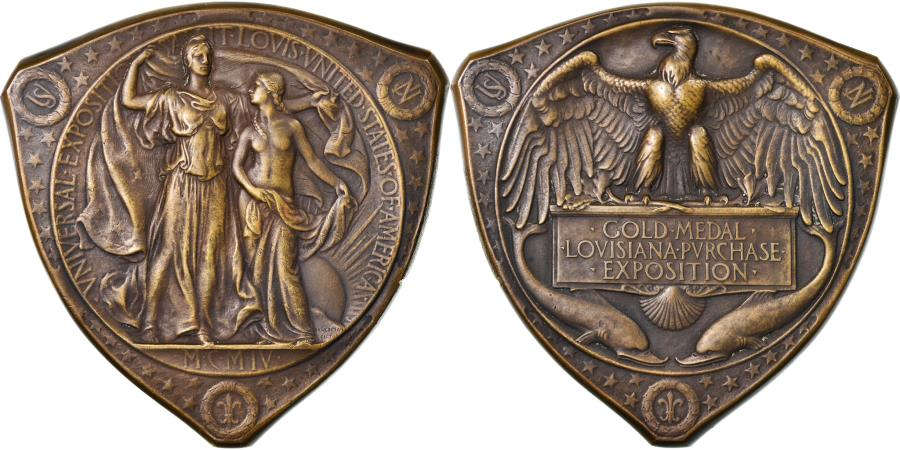 US Coins - United States of America, Medal, Exposition Universelle de Louisiane, 1904