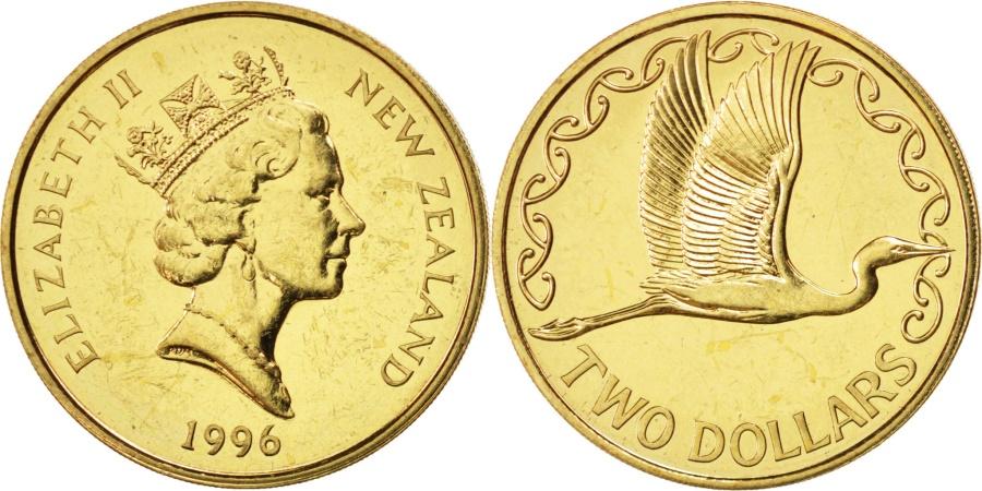 World Coins - NEW ZEALAND, 2 Dollars, 1996, KM #79, , Aluminum-Bronze, 26.5, 9.88