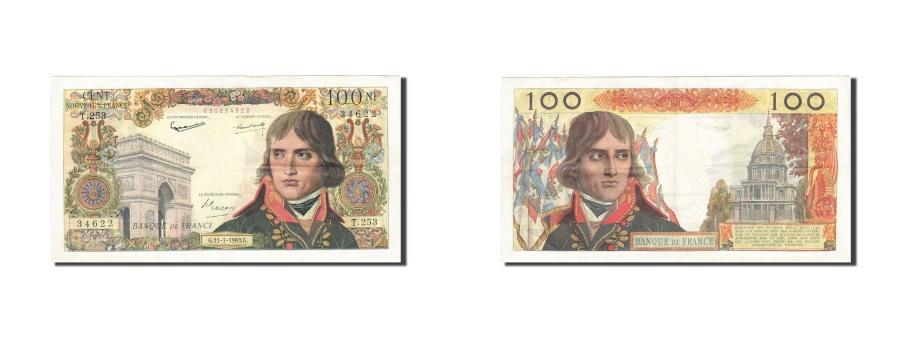 World Coins - France, 100 Nouveaux Francs, 1959, KM:144a, 1963-07-11, EF(40-45), Fayette:59.22