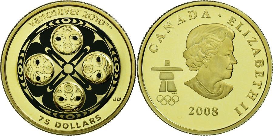 World Coins - Coin, Canada, Elizabeth II, 75 Dollars, 2008, Royal Canadian Mint, Proof
