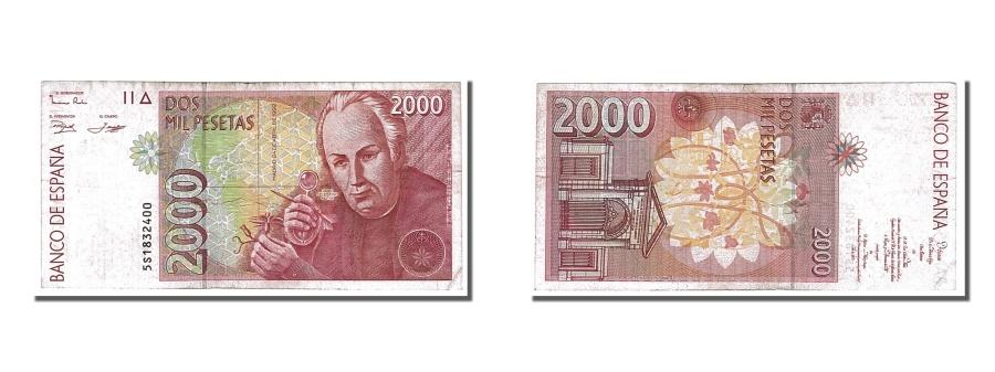 World Coins - Spain, 2000 Pesetas, 1992, KM #164, 1992-04-24, EF(40-45), 5S1832400