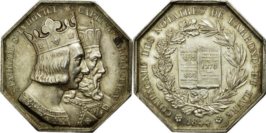 World Coins - France, Token, Notaires de l'arrondissement du Havre, 1844, Dubois,