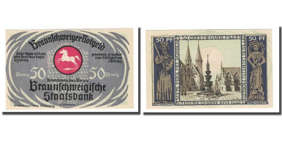 World Coins - Banknote, Germany, Braunschweig, 50 Pfennig, cathédrale, 1923, 1923-05-01