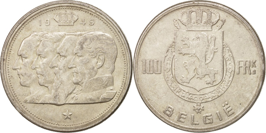 World Coins - Belgium, 100 Francs, 100 Frank, 1948, , Silver, KM:139.1
