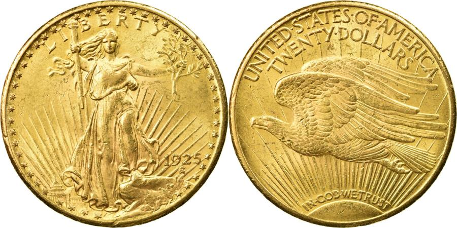 US Coins - Coin, United States, Saint-Gaudens, $20, Double Eagle, 1925, U.S. Mint