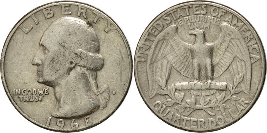 US Coins - Coin, United States, Washington Quarter, Quarter, 1968, U.S. Mint, Denver