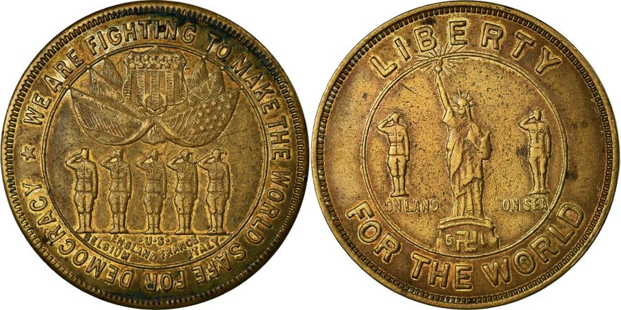 US Coins - United States of America, Token, Liberty for the world, Politics, Society, War