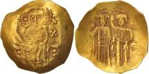 John II Comnenus 1118-1143, Hyperpyron, Thessalonica, AU(55-58), Gold, Sear:1948