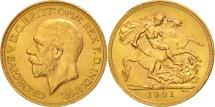 World Coins - South Africa, George V, Sovereign, 1931, MS(63), Gold, KM:A22
