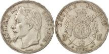 France, Napoléon III, 5 Francs, 1867, Strasbourg, EF(40-45), Silver, KM:799.2