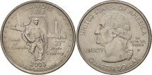 Us Coins - United States, Quarter, 2003, U.S. Mint, Philadelphia, AU(55-58), KM 343