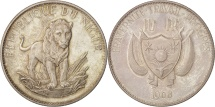 World Coins - Niger, 10 Francs, 1968, MS(63), Silver, KM:8.1
