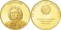 World Coins - France, Medal, Couperin, MS(63), Vermeil
