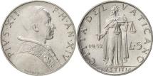VATICAN CITY, Pius XII, 5 Lire, 1952, Aluminum, KM:51.1