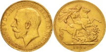 World Coins - South Africa, George V, Sovereign, 1926, AU(50-53), Gold, KM:21