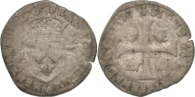 World Coins - France, Douzain with 2H, Poitiers, F(12-15), Billon, Duplessy:1140