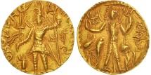 Ancient Coins - Vasu Deva, Kushans, Stater, 300-320 AD, Gold