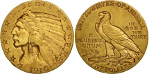 United States, Indian Head, $5, 1910, San Francisco, EF(40-45), Gold, KM 129