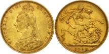 World Coins - Australia, Victoria, Sovereign, 1893, Sydney, EF(40-45), Gold, KM:10