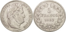 France, Louis-Philippe, 5 Francs, 1832, Lille, VF(30-35), Silver, KM:749.13