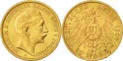 Ancient Coins - Coin, German States, PRUSSIA, Wilhelm II, 20 Mark, 1907, Berlin, AU(50-53)