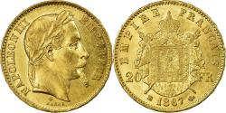 World Coins - Coin, France, Napoleon III, 20 Francs, 1867, Strasbourg, , Gold
