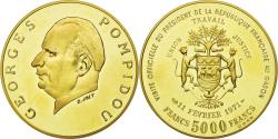 World Coins - Coin, Gabon, Georges Pompidou, 5000 Francs, 1971, , Gold, KM:11