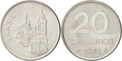 World Coins - Brazil, 20 Cruzeiros, 1983, , Stainless Steel, KM:593.1