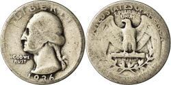 Us Coins - Coin, United States, Washington Quarter, Quarter, 1936, U.S. Mint, Philadelphia