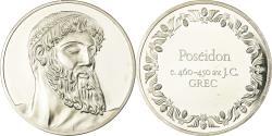 World Coins - France, Medal, Peinture,Poséidon, Grec, , Silver