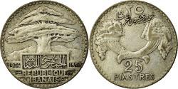World Coins - Coin, Lebanon, 25 Piastres, 1936, Paris, , Silver, KM:7, Lecompte:37