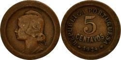 World Coins - Coin, Portugal, 5 Centavos, 1924, , Bronze, KM:572