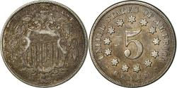 Us Coins - Coin, United States, Shield Nickel, 5 Cents, 1868, U.S. Mint, Philadelphia