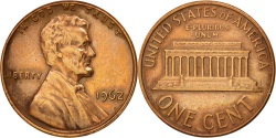 Us Coins - United States, Lincoln Cent, 1962, Philadelphia, , KM:201