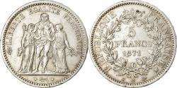 World Coins - Coin, France, Hercule, 5 Francs, 1871, Paris, Camélinat, , Silver