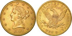 Us Coins - Coin, United States, Coronet Head, $10, Eagle, 1901, Philadelphia, , Gold