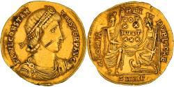 Coin, Constantius II, Solidus, 340-351, Nicomedia, EF(40-45), Gold, RIC:33
