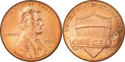 Us Coins - Coin, United States, Lincoln - Shield Reverse, Cent, 2012, U.S. Mint, Dahlonega